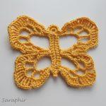 Large Crochet Butterfly