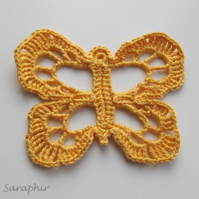 Large Crochet Butterfly