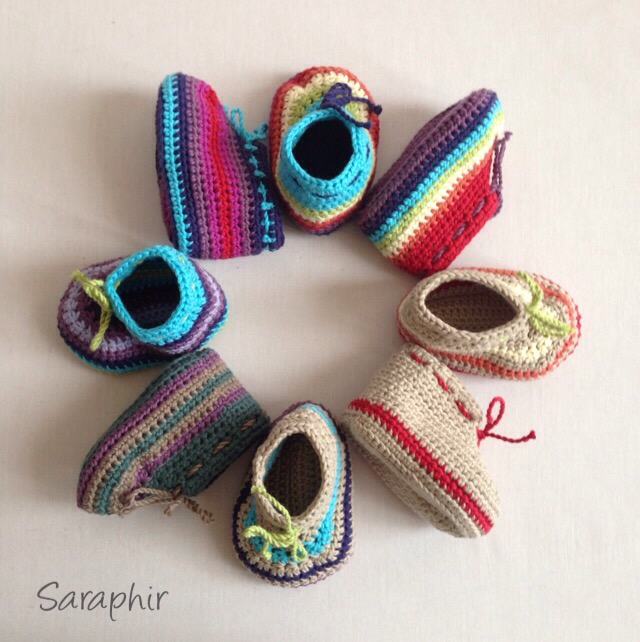 Updated crochet Baby Bootie Pattern – now includes 4 sizes
