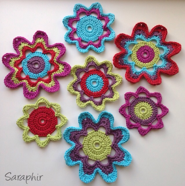 Large Retro Flower Pattern – one pattern many variations