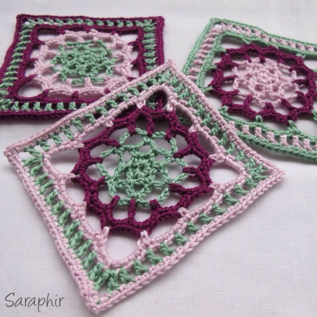 lace flower square