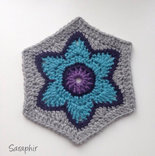 Flora Hexagon Crochet Pattern - Saraphir