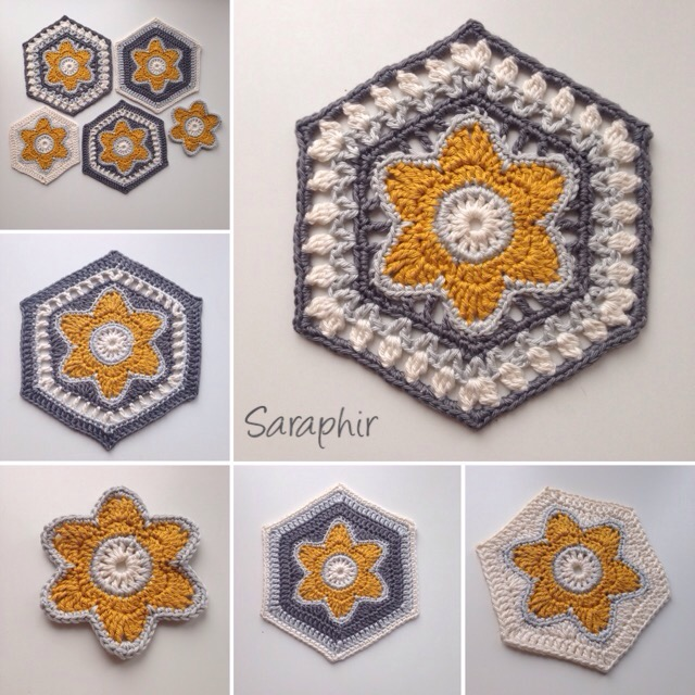 Flora Hexagon crochet pattern.