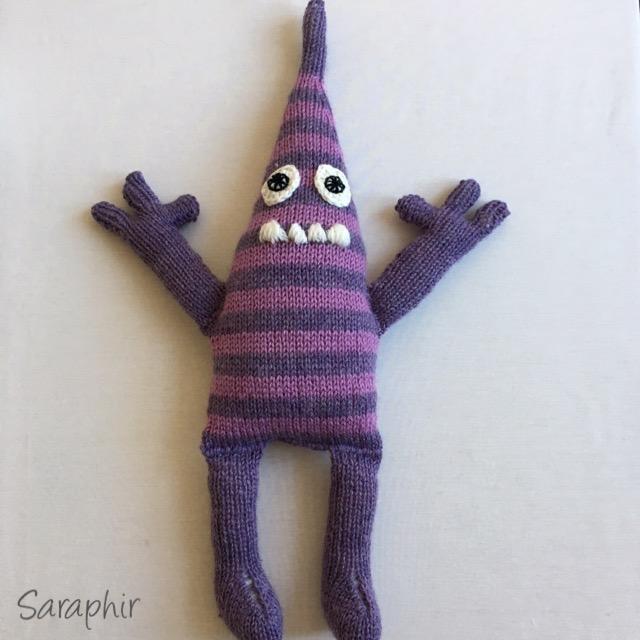 free monster knitting pattern