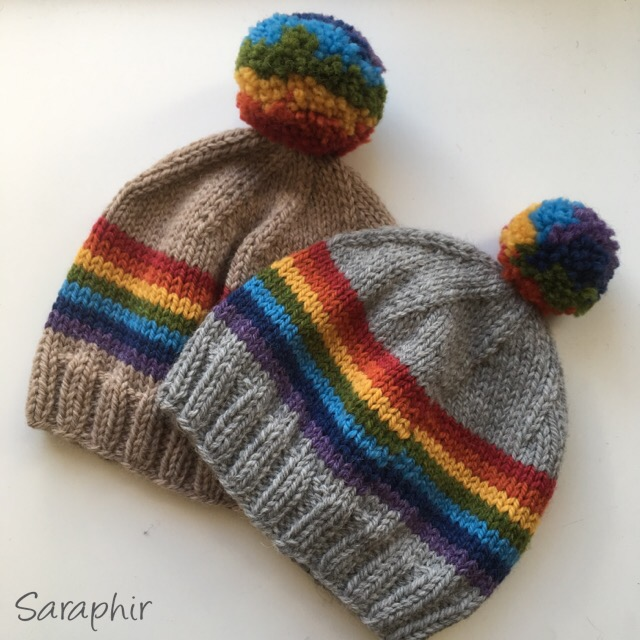 Knitted Child Bentie Pompom Beanie - by Saraphir a78d8aca23e