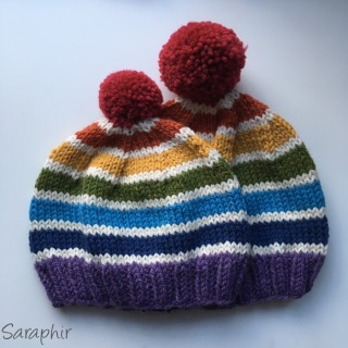 Knitted Child Bentie Pompom Beanie