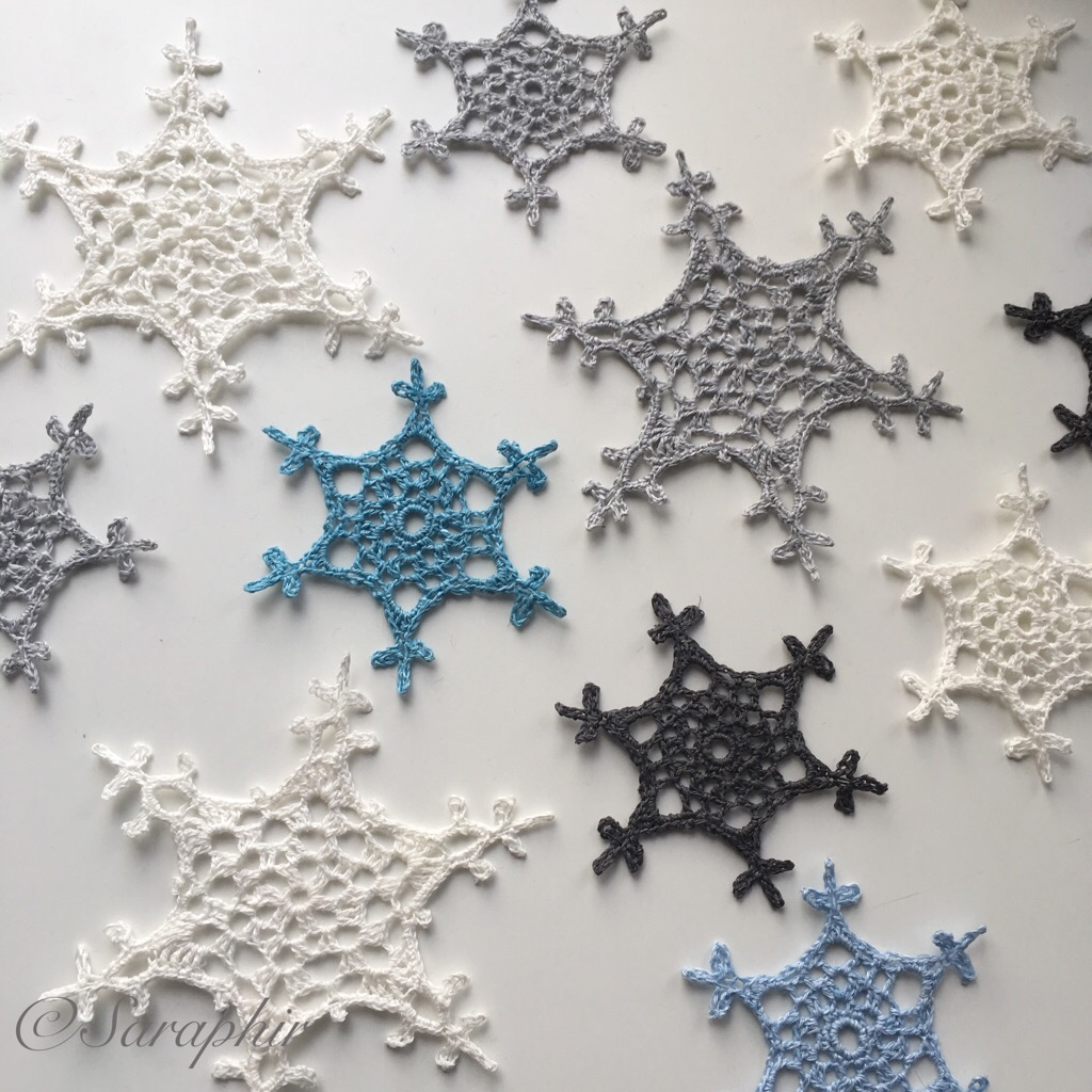 Large Tosne Snowflake Crochet Pattern - by Saraphir