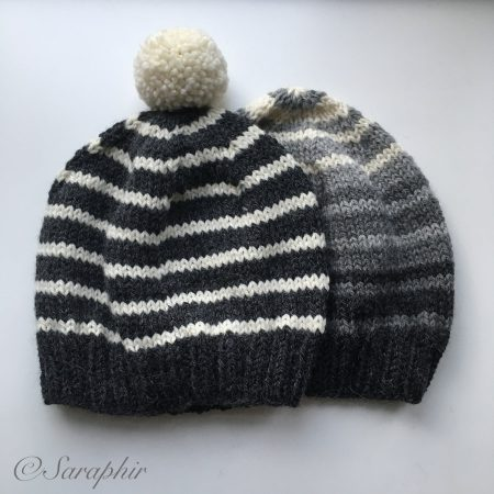 dfa9030f5 Adult Bentie Beanie - a free knitting pattern for a simple beanie.