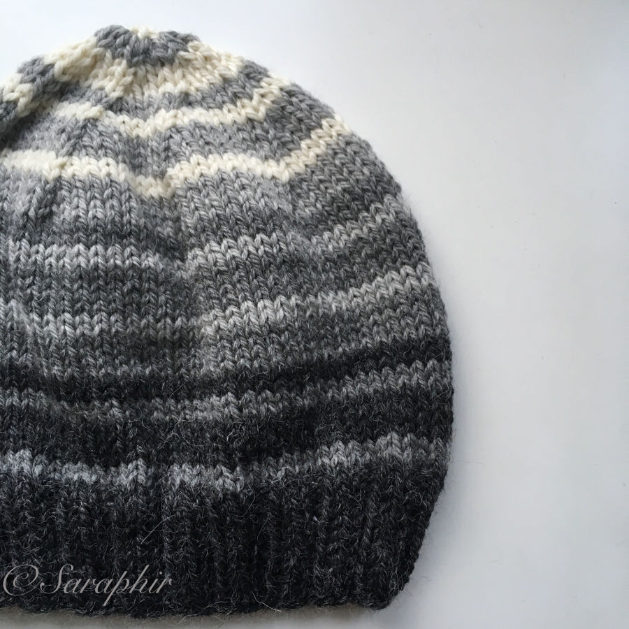Adult Bentie Beanie - a free knitting pattern for a simple