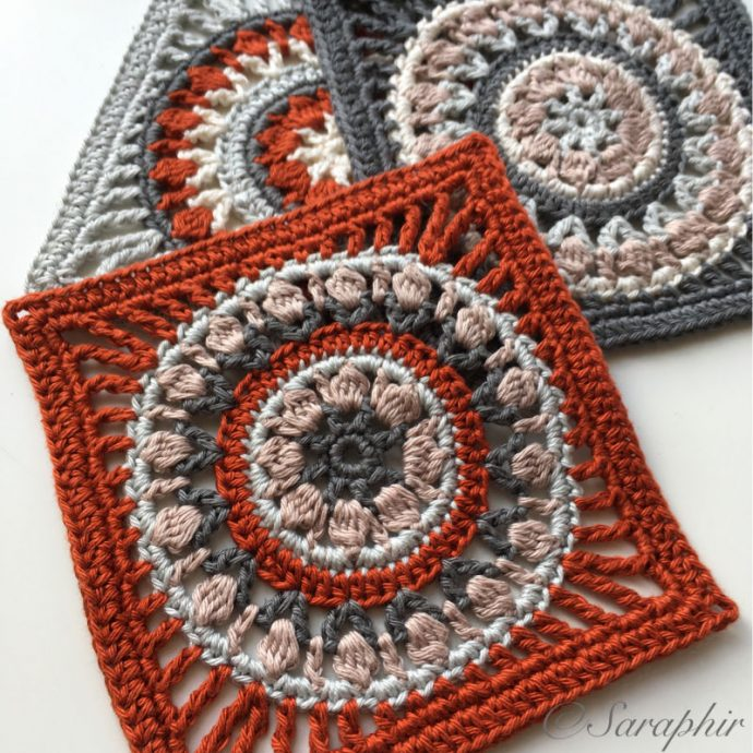 Small Flower Wheel Coaster Square