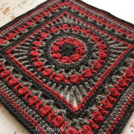 Medium Flower Wheel Coaster Square