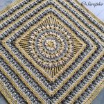 Large Flower Wheel Circle Square