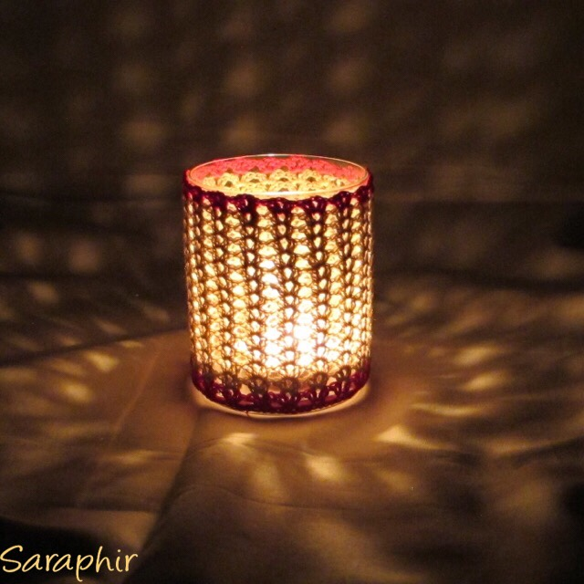 Crochet Iris Stitch Tealight Holder